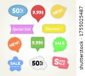 collection of creative sale... | Shutterstock .eps vector #1755025487