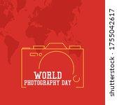 world photography day vector... | Shutterstock .eps vector #1755042617