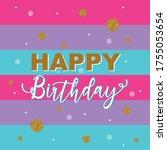 Colorful Happy Birthday Text...