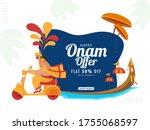 happy onam sale poster design... | Shutterstock .eps vector #1755068597