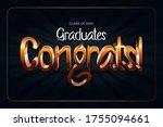 class of 2020. congrats... | Shutterstock .eps vector #1755094661