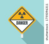 danger radiation zone sign icon.... | Shutterstock .eps vector #1755096311