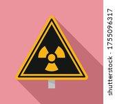 danger zone caution icon. flat... | Shutterstock .eps vector #1755096317