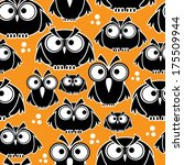 icons black owls seamless... | Shutterstock . vector #175509944