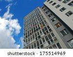 stylish living block of flats.... | Shutterstock . vector #175514969