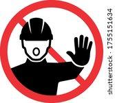 no trespassing sign.... | Shutterstock .eps vector #1755151634