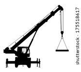 crane. silhouette on a white...   Shutterstock .eps vector #175518617