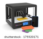 one 3d printer with a...   Shutterstock . vector #175520171