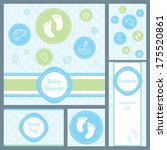 baby boy shower  set of five... | Shutterstock .eps vector #175520861