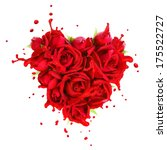Heart Made Of Red Roses With...