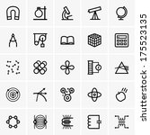 science icons | Shutterstock .eps vector #175523135