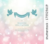 vector wedding card or... | Shutterstock .eps vector #175525619