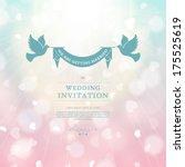 vector wedding card or... | Shutterstock .eps vector #175525619