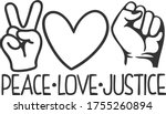peace love justice   stop racism | Shutterstock .eps vector #1755260894