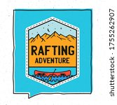 vintage adventure badge... | Shutterstock .eps vector #1755262907
