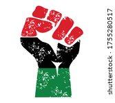 black power fist africa ...   Shutterstock .eps vector #1755280517