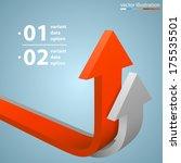 arrows business growth ... | Shutterstock .eps vector #175535501