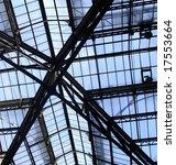 steel beamed glass roof. | Shutterstock . vector #17553664