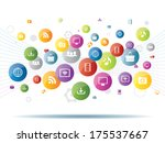 integration between media and... | Shutterstock .eps vector #175537667