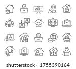 freelance and work at home... | Shutterstock .eps vector #1755390164