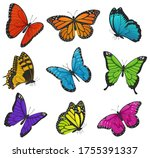 big collection of colorful... | Shutterstock .eps vector #1755391337