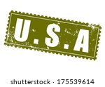 Usa Grunge Stamp On Whit Vecto...