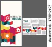 geometric brochure layout... | Shutterstock .eps vector #175540607