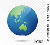 3d isolated vector earth  globe ... | Shutterstock .eps vector #1755475091