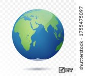 3d realistic vector earth with...   Shutterstock .eps vector #1755475097