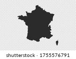 france  map with gray tone on   ... | Shutterstock .eps vector #1755576791