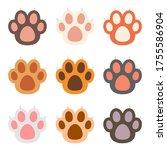cat paw vector design...   Shutterstock .eps vector #1755586904