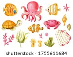 Cute Sea Collection With...