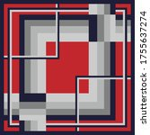 Silk Scarf Pattern With Square...