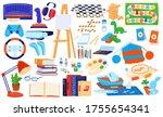 hobby elements vector... | Shutterstock .eps vector #1755654341