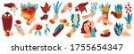 hand with flowers vector... | Shutterstock .eps vector #1755654347