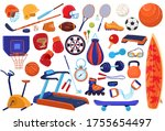 sport equipment vector... | Shutterstock .eps vector #1755654497