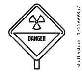 danger radiation zone icon.... | Shutterstock .eps vector #1755669857