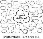 hand drawn illustration set of... | Shutterstock .eps vector #1755701411