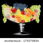 glass vase with fruit  | Shutterstock .eps vector #175575854