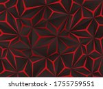 abstract black polygon red... | Shutterstock .eps vector #1755759551