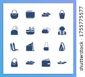shoes icon set and picnic...