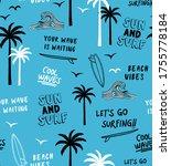 hand drawn vector seamless... | Shutterstock .eps vector #1755778184