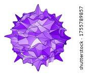 lowpoly coronavirus sign icon.... | Shutterstock .eps vector #1755789857