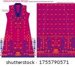 salwar kameez artwork for ready ... | Shutterstock .eps vector #1755790571