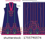 salwar kameez artwork for ready ... | Shutterstock .eps vector #1755790574