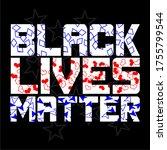 black lives matter text vector... | Shutterstock .eps vector #1755799544