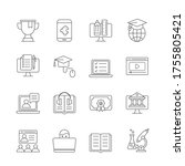 education and training icons set | Shutterstock .eps vector #1755805421