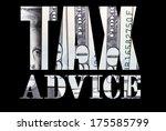 tax advice  | Shutterstock . vector #175585799