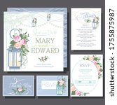 wedding invitations card with... | Shutterstock .eps vector #1755875987
