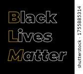 stop racism calligraphic text... | Shutterstock .eps vector #1755885314